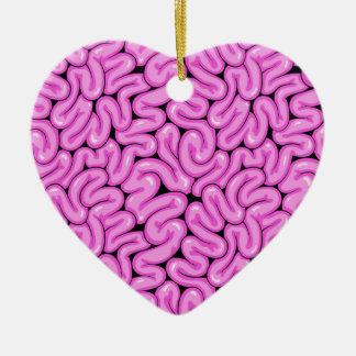 Ornamento De Cerâmica Cérebro cor-de-rosa do zombi - impressão do