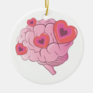 Ornamento De Cerâmica Cérebro do amor