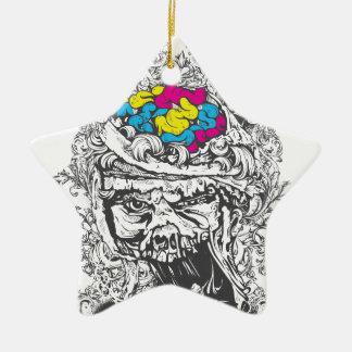 Ornamento De Cerâmica cérebros da cor do vintage