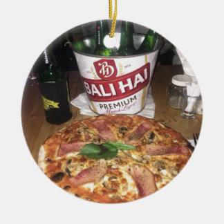 Ornamento De Cerâmica Cerveja e pizza de Bali