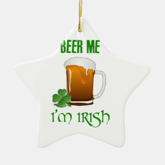 Ornamento De Cerâmica Cerveja mim eu sou irlandês