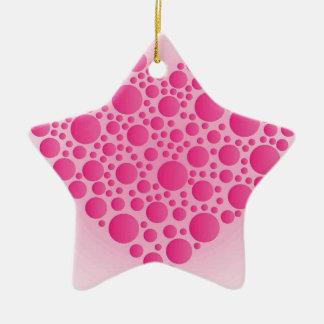 Ornamento De Cerâmica Cervo cor-de-rosa da bolha