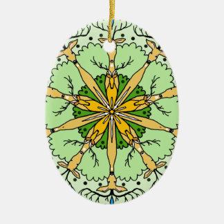 Ornamento De Cerâmica Cervos do caleidoscópio