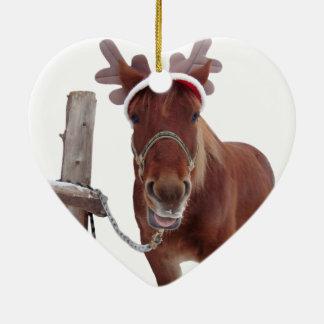 Ornamento De Cerâmica Cervos do cavalo - cavalo do Natal - cavalo
