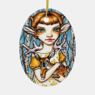 Ornamento De Cerâmica Cervos Dorothy