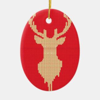 Ornamento De Cerâmica Cervos feitos malha