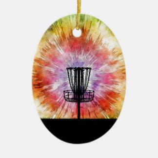 Ornamento De Cerâmica Cesta do golfe do disco da tintura do laço