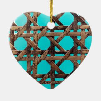Ornamento De Cerâmica Cestaria de madeira velha