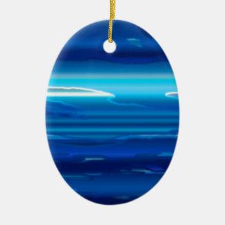 Ornamento De Cerâmica Céu azul abstrato