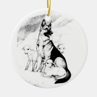 Ornamento De Cerâmica Céu do cão, o rebanho do mestre