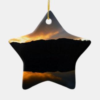 Ornamento De Cerâmica céu no espelho