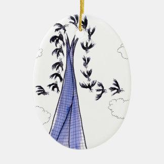Ornamento De Cerâmica Céus azuis de ShardArt por Tony Fernandes