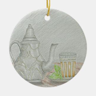 Ornamento De Cerâmica chá com hortelã