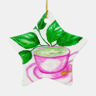Ornamento De Cerâmica Chá verde Art2
