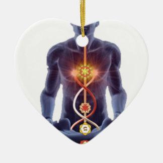 Ornamento De Cerâmica chakras do homem
