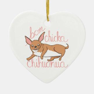Ornamento De Cerâmica Chalaça engraçada do cão da chihuahua de Bom