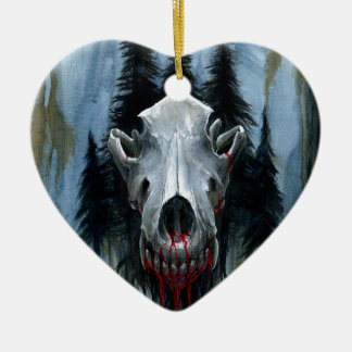 Ornamento De Cerâmica Chamada do selvagem