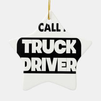 Ornamento De Cerâmica chamam-me um camionista