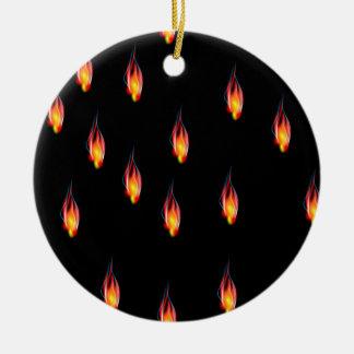 Ornamento De Cerâmica Chamas do fogo