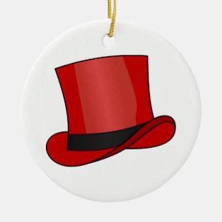 Ornamento De Cerâmica Chapéu alto vermelho