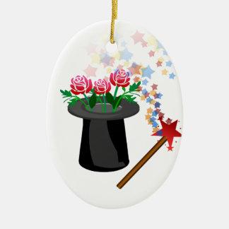 Ornamento De Cerâmica chapéu e caneta mágicos