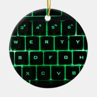 Ornamento De Cerâmica Chaves de teclado QWERTY do computador do fulgor