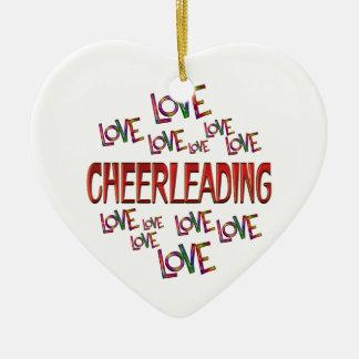 Ornamento De Cerâmica Cheerleading do amor do amor