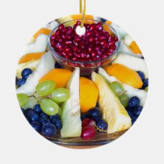 Ornamento De Cerâmica Cheio de vidro da escala de várias frutas frescas