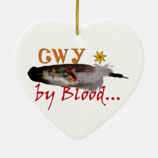 Ornamento De Cerâmica Cherokee pelo sangue