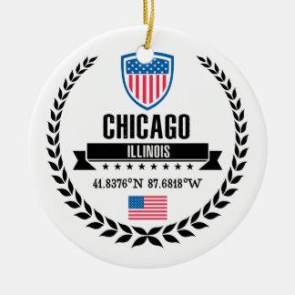 Ornamento De Cerâmica Chicago