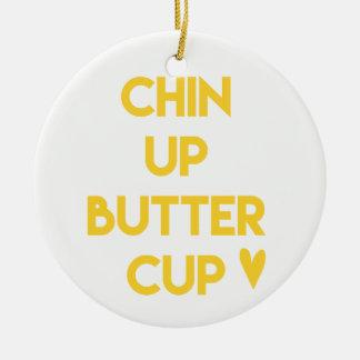 Ornamento De Cerâmica Chin acima de inspirador doce do botão de ouro |