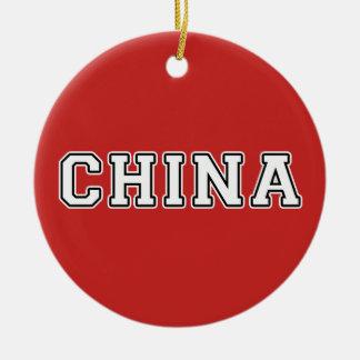 Ornamento De Cerâmica China
