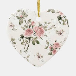 Ornamento De Cerâmica Chique, chique francês, vintage, floral, rústico,