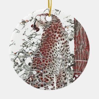 Ornamento De Cerâmica Chita pela árvore, efeito japonês da arte