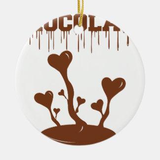 Ornamento De Cerâmica Chocolate