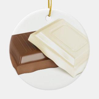 Ornamento De Cerâmica Chocolate branco e marrom