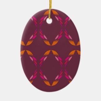 Ornamento De Cerâmica Chocolate étnico dos elementos do design