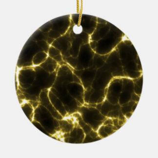 Ornamento De Cerâmica Choque eléctrico no amarelo