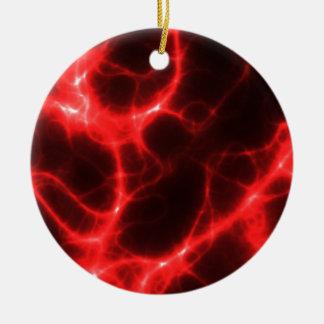 Ornamento De Cerâmica Choque eléctrico no vermelho