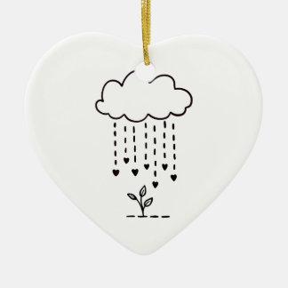 Ornamento De Cerâmica Chovendo o amor