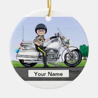 Ornamento De Cerâmica Chui de motocicleta - fêmea