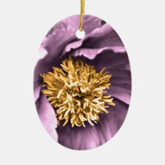 Ornamento De Cerâmica Chuva da peônia na cor