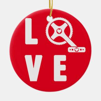 Ornamento De Cerâmica Ciclismo do amor