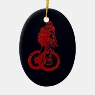 Ornamento De Cerâmica CICLISTA do motociclista MTB BMX da montanha