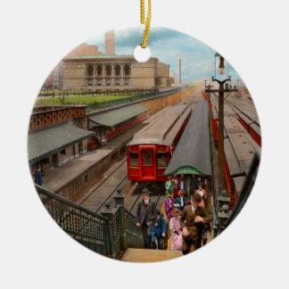 Ornamento De Cerâmica Cidade - Chicago - a estação 1907 da rua de Van