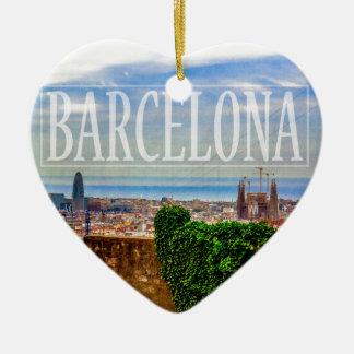 Ornamento De Cerâmica Cidade de Barcelona