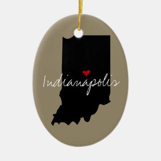 Ornamento De Cerâmica Cidade de Indiana