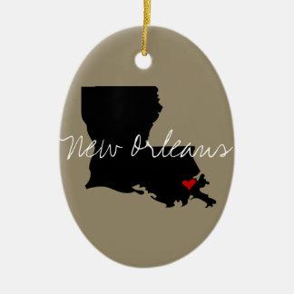 Ornamento De Cerâmica Cidade de Louisiana