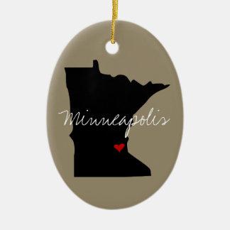 Ornamento De Cerâmica Cidade de Minnesota