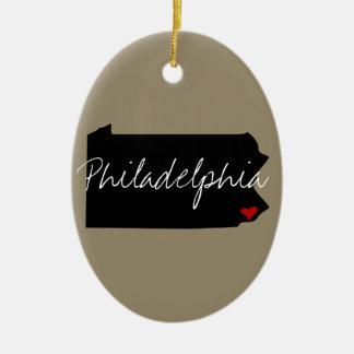 Ornamento De Cerâmica Cidade de Pensilvânia